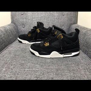 Black & Gold Jordan 4 Royalty Youth Size 6